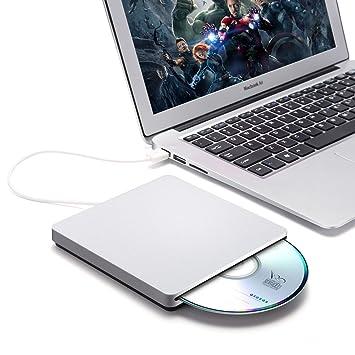 Grabadora externa USB 2.0 de bestrunner, con escritura DVD-RW/DVD, reproductor