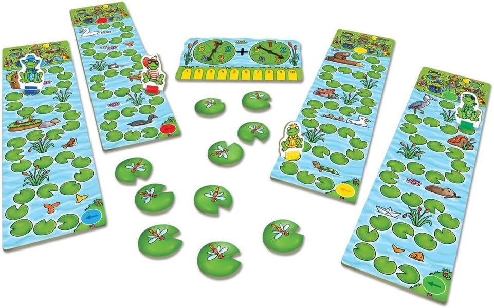 para 4 Jugadores Orchard/_Toys versi/ón en ingl/és 63 Juego de Miniatura Rana