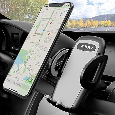 Mpow Soporte Móvil Coche, Soporte para Rejillas, Instalación Fácil, para iPhone XS/