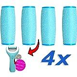 Wet und Dry Mineral Ersatzrollen extra grob kompatible für Scholl Velvet Smooth, 4er Pack