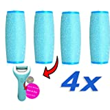 4 x EXTRA Coarse wet and dry Scholl Velvet Smooth Diamond Compatible Refill Replacement Rollers