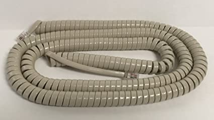 Tan 12 Ft Phone Handset Cord Nortel Receiver Telephone Spring Curly Coil Spiral