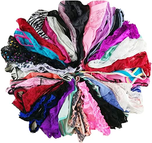 jooniyaa Women Variety of Underwear Pack T-Back Thong G-String Panties
