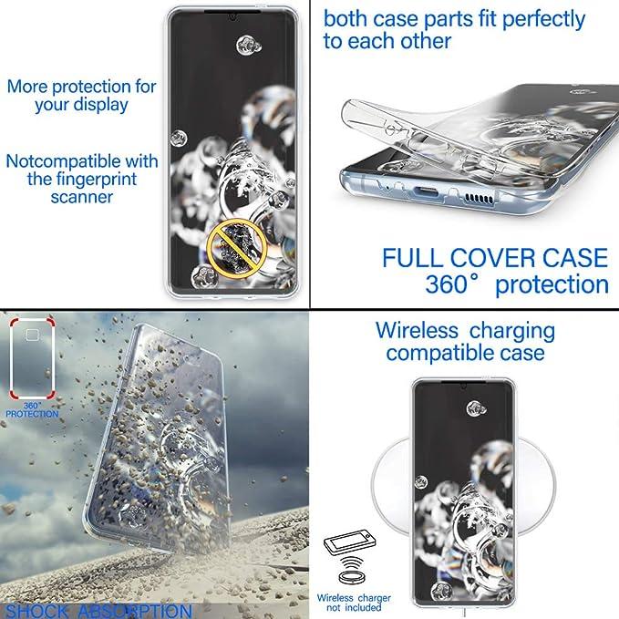 E-Lush Cover con Transparent Vidrio Templado Caso 360 Grados Anti-rasgu/ños Protective Case para Huawei Y6P Carcasa para Huawei Y6P 2020 Funda Ultra Delgado 3 in 1 R/ígida PC Oro Rosa 2020