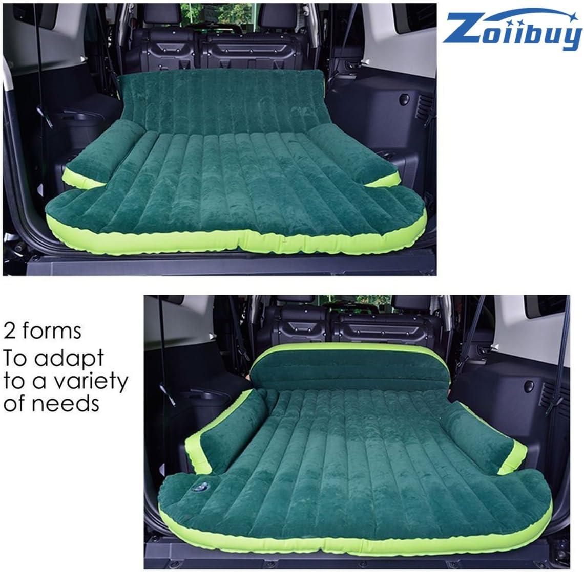 Zoiibuy SUV Colch/ón de Aire Cama Doble Cama de Coche Port/átil para Viajar al Aire Libre Incluyendo la Bomba de Aire El/éctrico