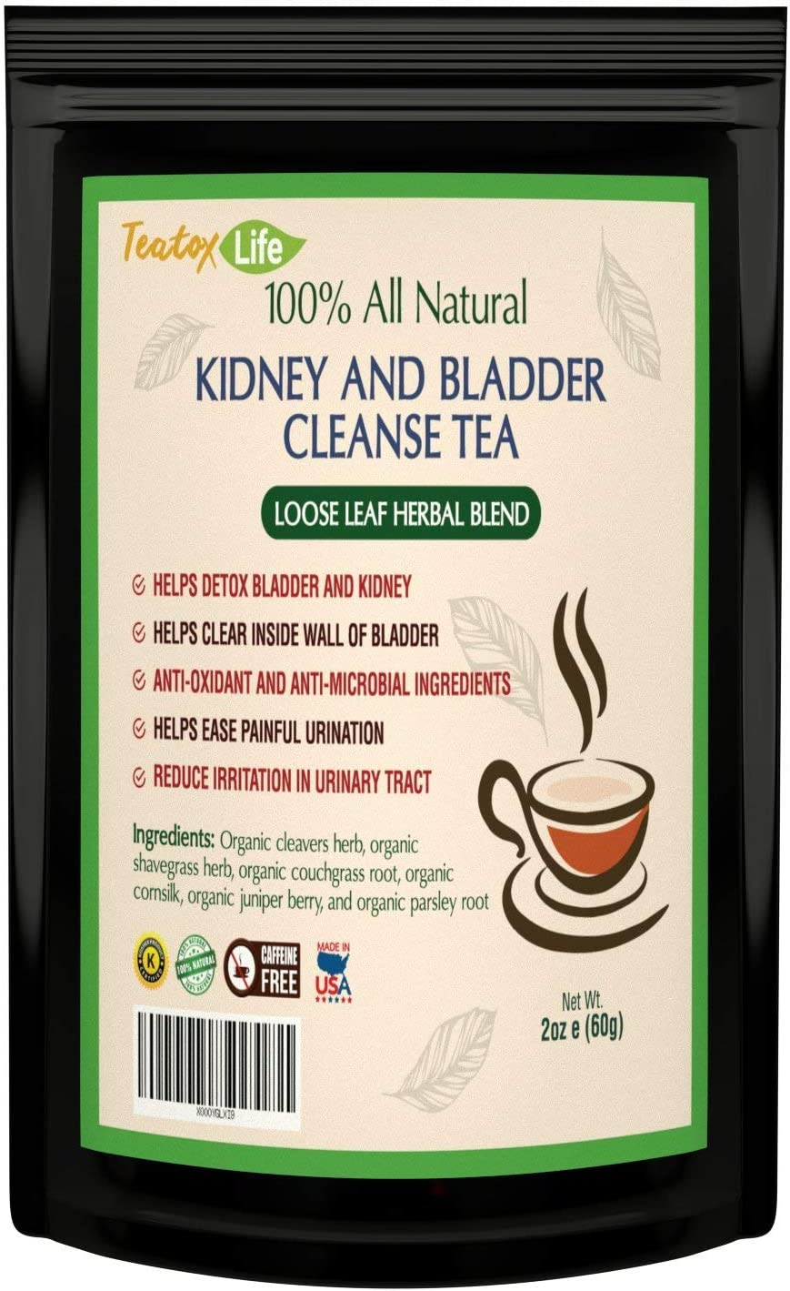 Amazon Com Kidney Cleanse Detox Tea Kidney Support Supplement With Parsley Juniper Berries Cleavers Herb For Urinary Tract And Bladder Health Organic Natural Herbal Flush Formula Usda Made In Usa Health