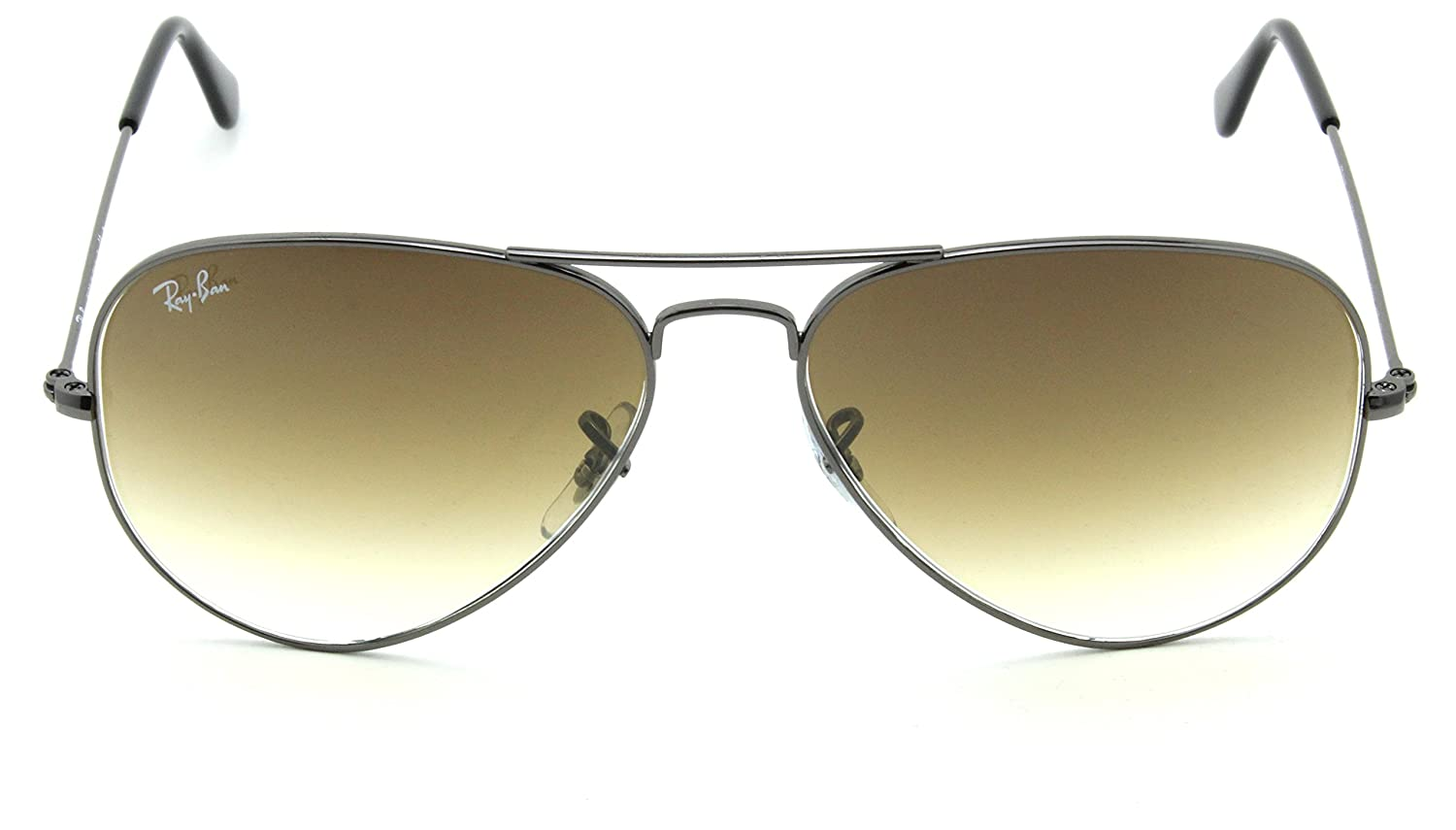 2b89841a9a Amazon.com  Ray-Ban RB3025 Aviator Gradient Unisex Sunglasses Brown 004 51-58mm   Clothing