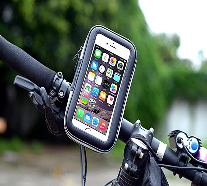 VSOAIR Giratorio de 360 Grados de la Bicicleta de la Motocicleta Impermeable o Barra de la Manija de la Bolsa Funda Soporte para iPhone 6, 6 Iphone Plus 5,5 ...