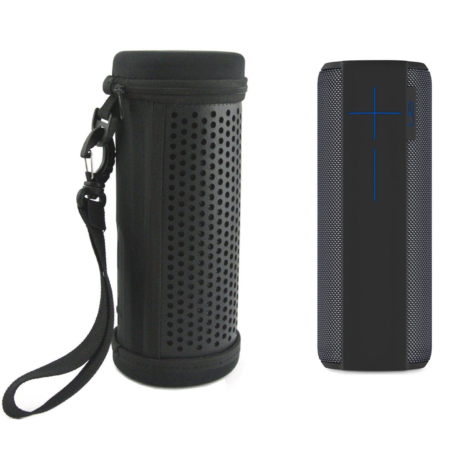 Zaracle PU Leather Case Travel Carry Case Protect Cover Pouch Sleeve Bag For UE Megaboom Bluetooth Speaker