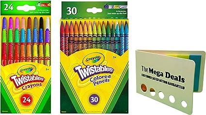 Crayola Twistable Colored Pencils, 30 Count Mini Twistables Crayons, Pack of 24| Includes 5 Color Flag Set: Amazon.es: Oficina y papelería