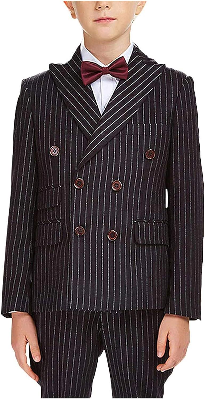Isaac Mizrahi Boys 2-Piece Double Breast Pinstripe Suit