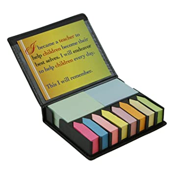 Amazon.com : Colored Note Flag & Sticky Note Organizer, Teacher ...