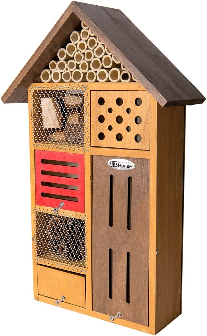 Super Moss (56102) Clover Beneficial Bug Hotel, Honey Stain