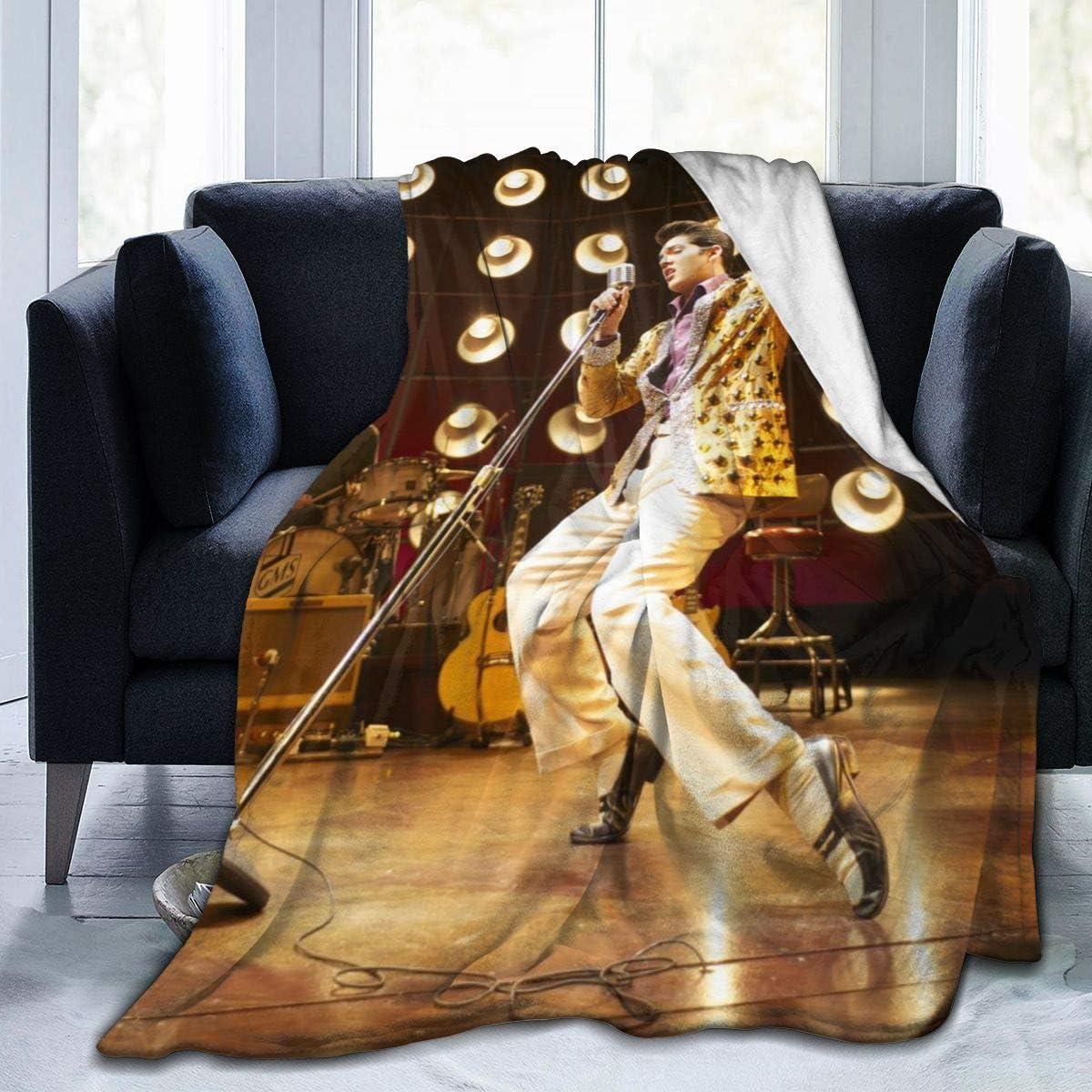 El_vis Pre_sley Ultra-Soft Micro Fleece Blanket Throw