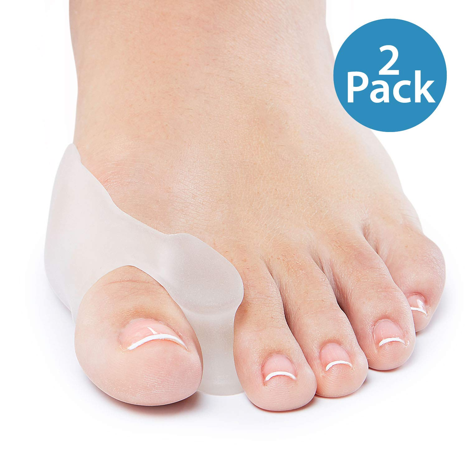 NatraCure Gel Big Toe Bunion Guards & Toe Spreaders - 1315-M CAT 2PK -