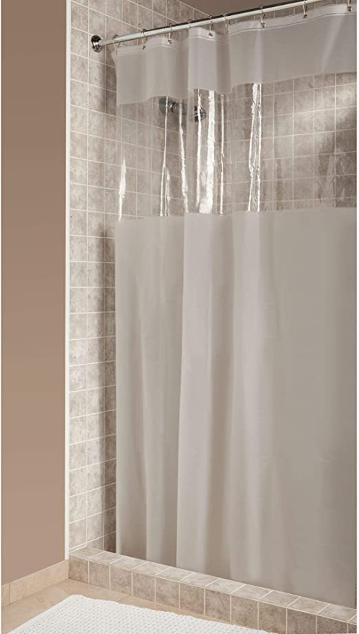 NEW InterDesign Hitchcock Window EVA Clear//Frosted Vinyl Shower Curtain 19413