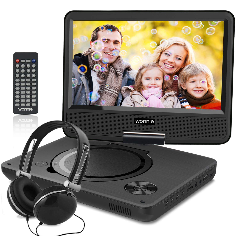 WONNIE New 9-Inch Portable DVD Player