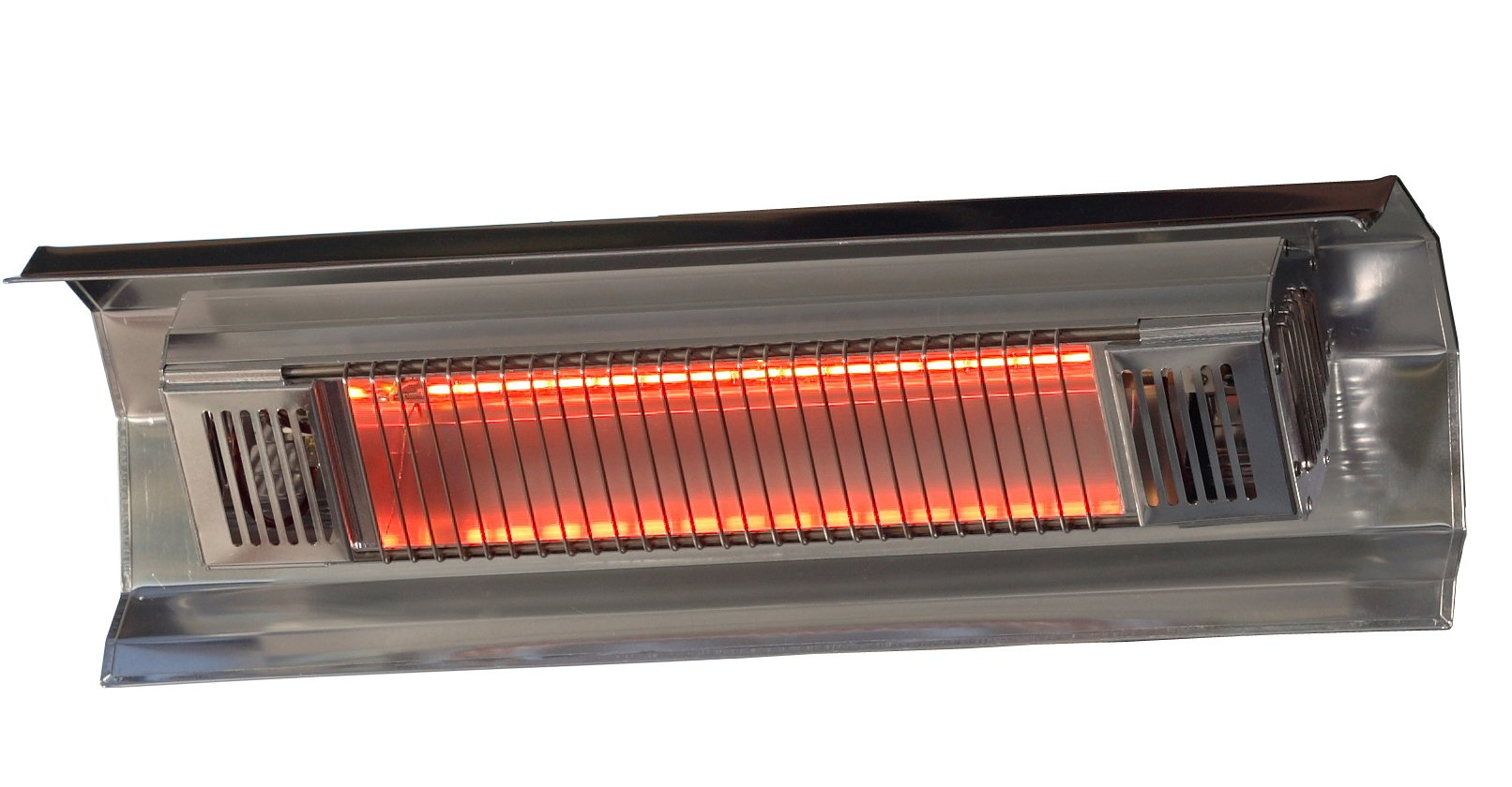 Fire Sense Indoor/Outdoor Wall-Mounted Infrared Heater, Silver by Fire Sense