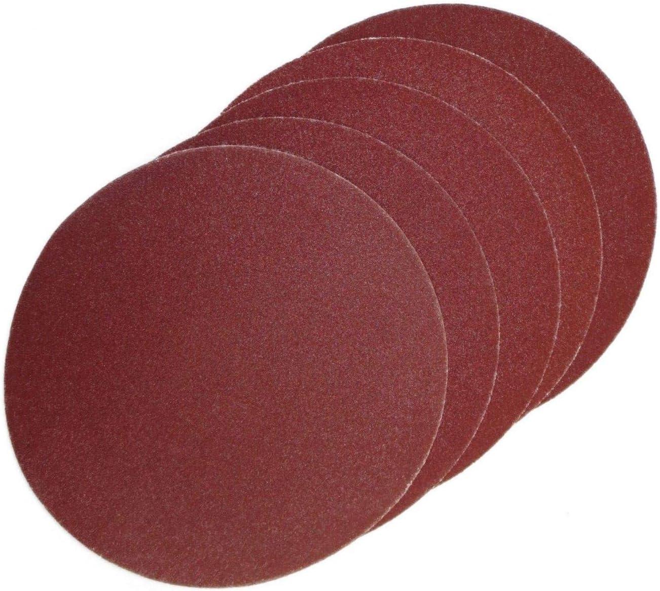 ECKRA 2868 50 Disques abrasifs adh/ésifs /Ø 125 mm sans trous daspiration P60 Marron rouge