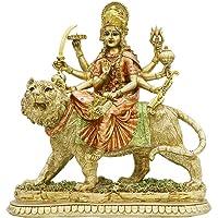 Hindu Goddess Lord Durga Statue - India God Murti Idol Home Temple Puja Sculpture - Indian Diwali Day Mandir Pooja…