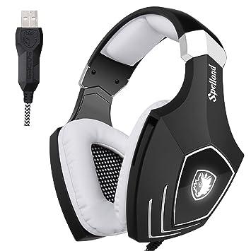 SADES A60/OMG Computadora Auriculares para juegosSobre oreja Auricular USB Con cable Auriculares con aislamiento de ruido Mic de control de volumen para PC ...