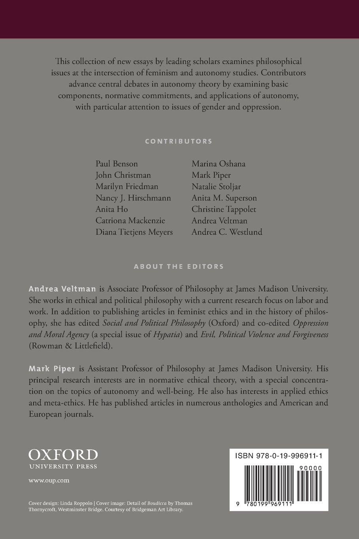 Autonomy, Oppression, and Gender (Studies in Feminist Philosophy):  Amazon.co.uk: Andrea Veltman, Mark Piper: 9780199969111: Books