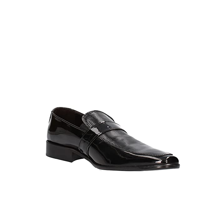 Maestri CALZATURIERI Hombre Zapatos Elegantes Negro Charol AG830 (40 EU) nSPGs2EPOa