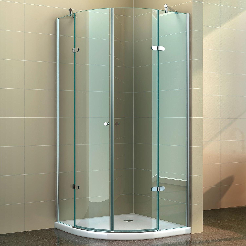 Cabina de ducha Cuadrante Mampara redonda templado de ducha Nano ...