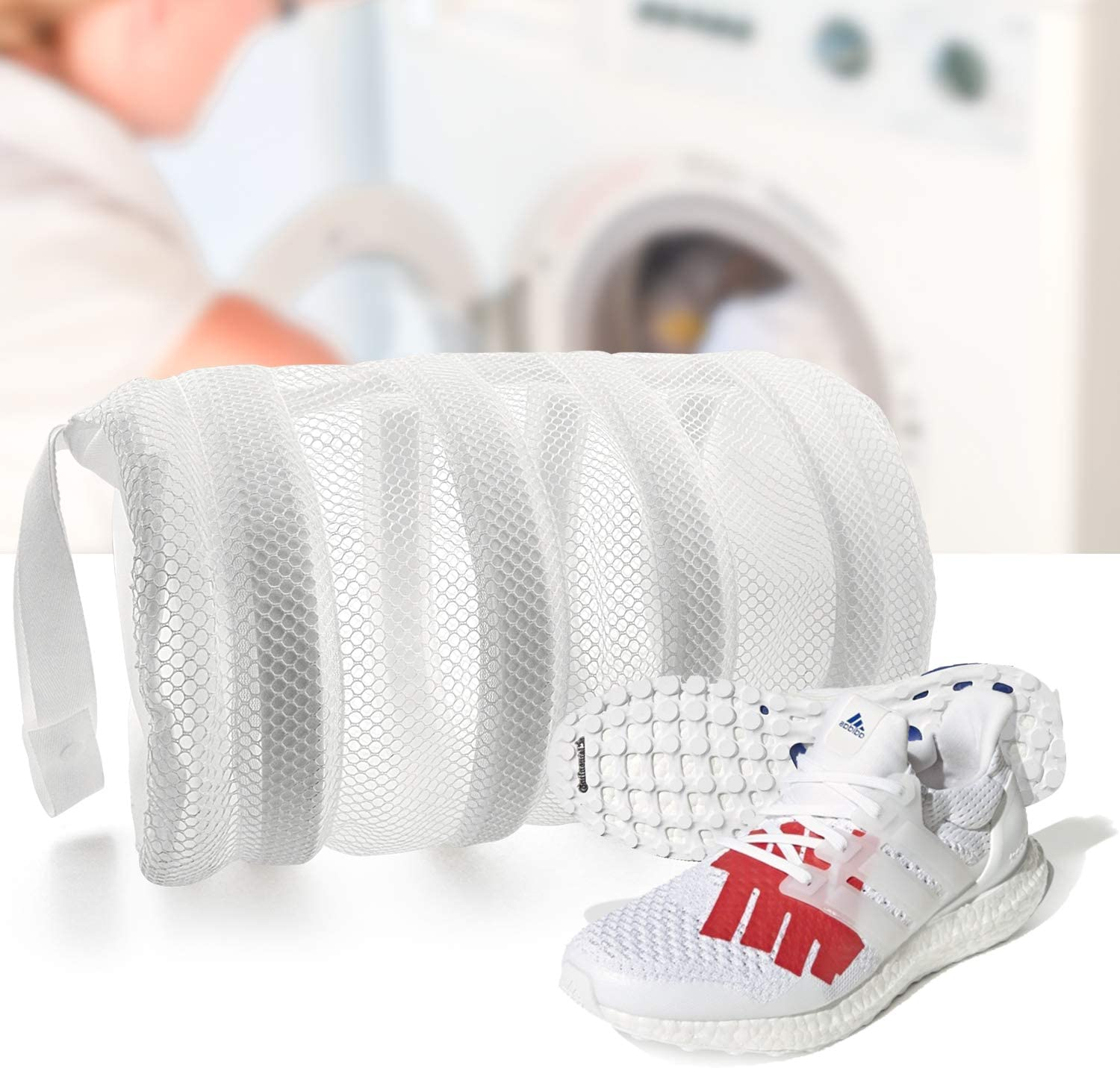 SOOHAO Shoes Wash Bags with Bumper Protectors, Shoes Laundry Bags for Washing Machine, Mesh Laundry Bag and Laundry Dryer for Shoes Sneakers Knitted Sock Shoes and Delicates