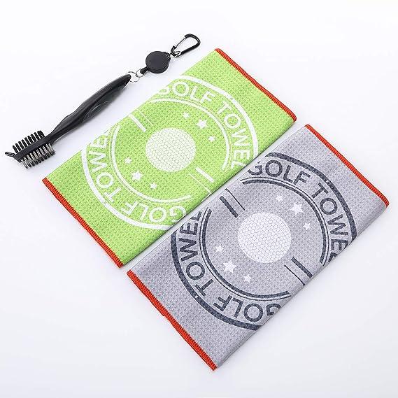 Amazon.com: CHARS - Juego de 2 toallas de golf (12.0 x 12.0 ...
