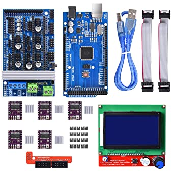 WINSINN 3D Printer Controller Kit for Arduino Mega 2560 Uno R3 Starter Kits  + RAMPS 1 6 Upgraded Mosfet + 5Pcs DRV8825 Stepper Motor Driver + LCD
