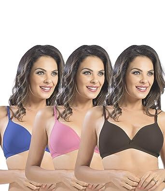 78455c71c84f8 Sonari Omania Women s T-Shirt Bra Pack of 3  Amazon.in  Clothing ...