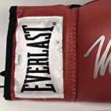 Autographed/Signed Mike Tyson Red Everlast Boxing