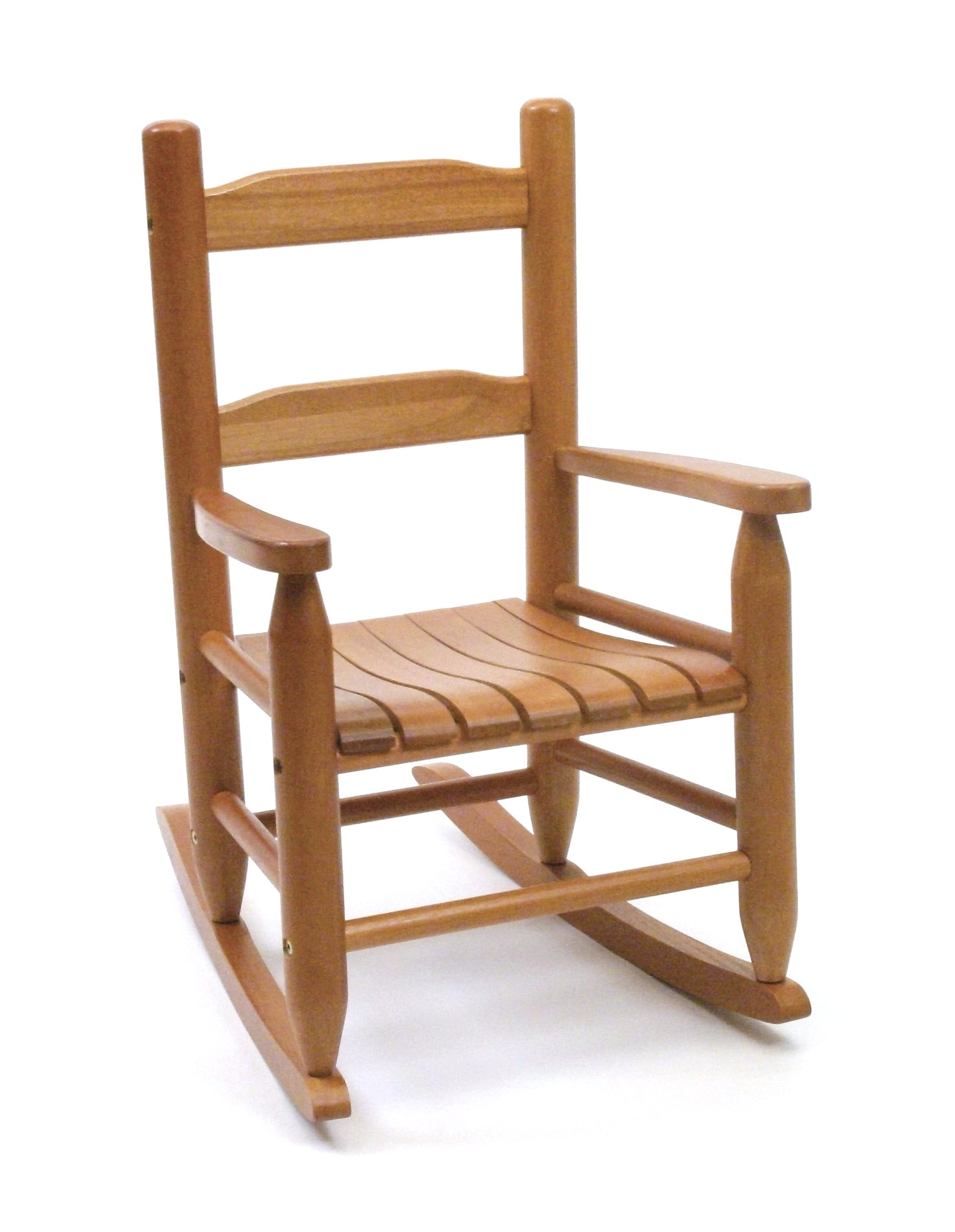 Lipper International 555P Child's Rocking Chair, 14.5'' W x 19.75'' D x 23.75'' H, Pecan Finish