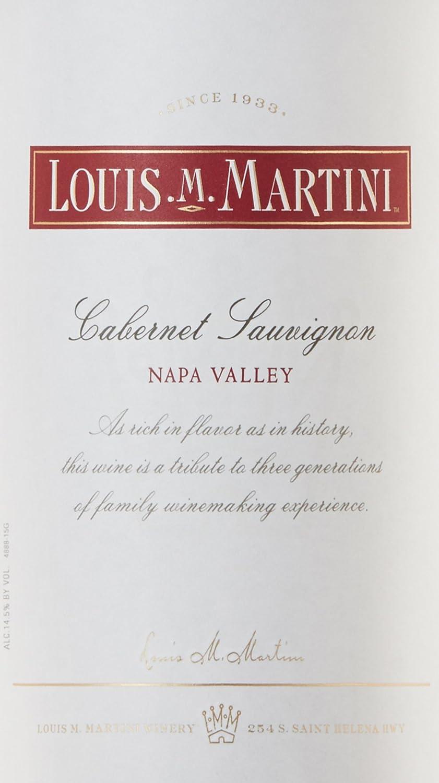2013 louis m martini napa valley cabernet sauvignon 750ml at
