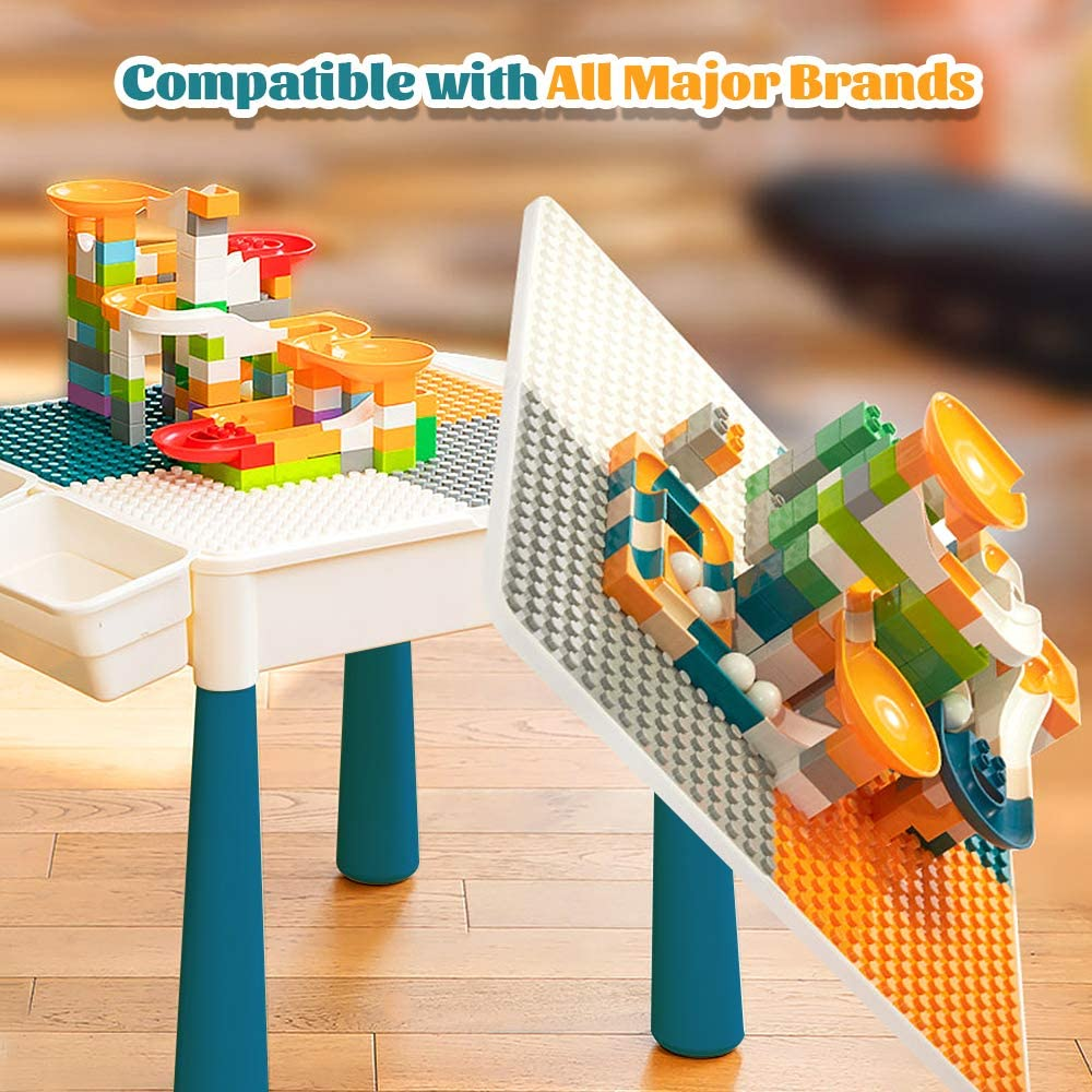 Toddler Activity Table, Kids Table & Chair Set All-in-One Multi Activity Playset Compatible Building Block And Water Table Outdoor Play Sand Table, Versatile Toys For Toddlers 2 3 4 5 Year Old
