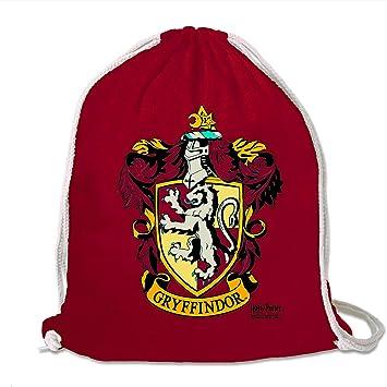 LOGOSHIRT - Harry Potter - Gryffindor - Logo - Mochila Saco - Bolsa - Rojo - Diseño Original con Licencia: Amazon.es: Equipaje