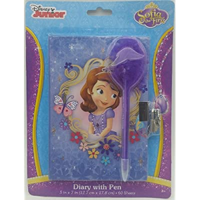 Sofia The First Diary with Pen Lock and Key: Toys & Games