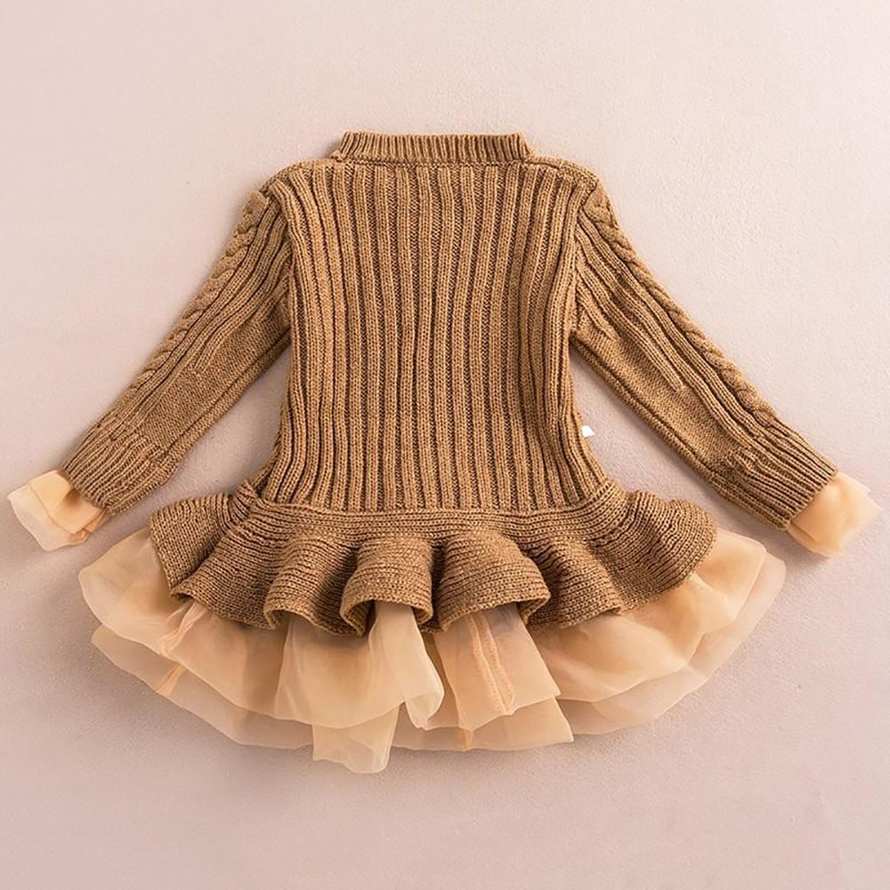 Amazon.com  Imily Bela Little Girls Sweater Ruffle Tutu Lace Dress Long  Sleeve Cute Kids Jumper Tops XS-XL  Clothing 0499759b6