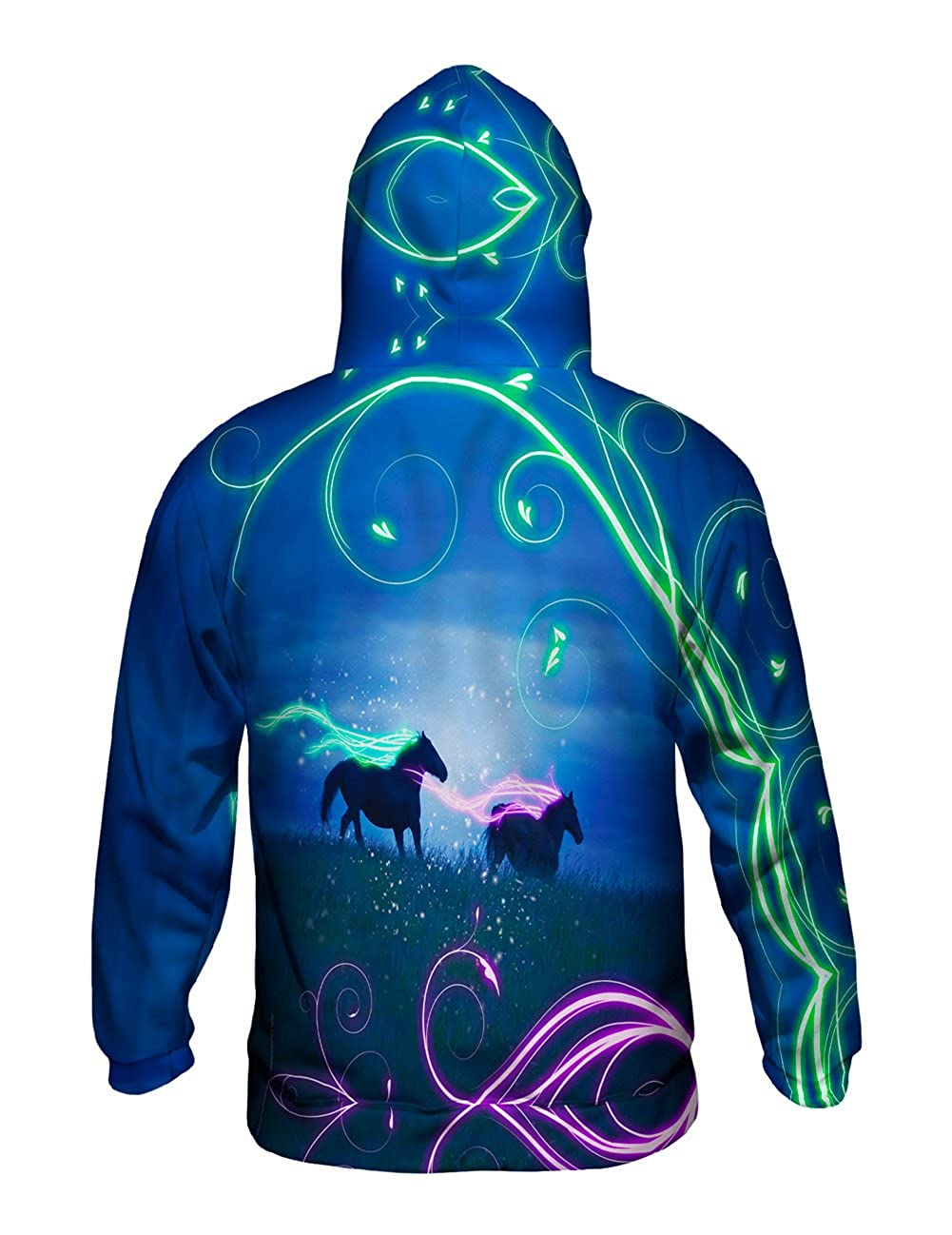 Mens Hoodie Sweater Yizzam Horse Flow Allover Print