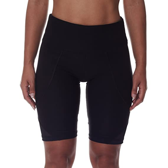 Amazon.com: NYL New York Laundry N.Y.L. Womens Workout Running Yoga Shorts With Mesh Side Panels and Tummy Control Black Large: Clothing