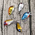 NUOMI Crankbait Fishing Lures Bass Hard Topwater Panfish/Crappie Lure Hooks Artificial Baits 5 Pieces Mini Fishing Tackle