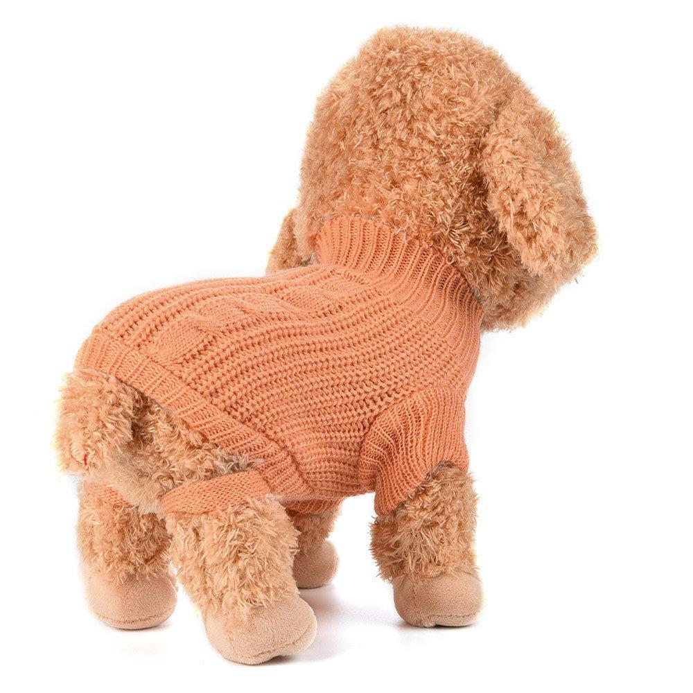 Fossrn Ropa Perro Pequeñ o Chihuahua Yorkshire Pomerania Invierno Jersey de Punto cá lido sué ter Cachorro Abrigo