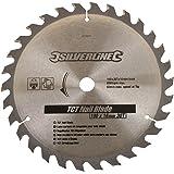Silverline 633507 Lame TCT pour bois clouté 30 dents 190 x 16 mm sans bague de réduction