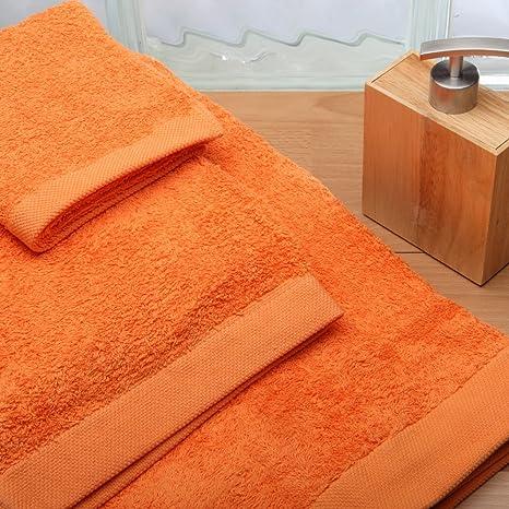Burrito Blanco Juego de Toallas de Baño Lisas 3 Piezas (1 toalla de Ducha de 70x140 ...