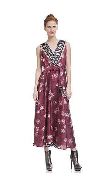 19c969566e98e TANTRA Vestido Paula Vino Mujer Colección Otoño Invierno  Amazon.es  Ropa y  accesorios