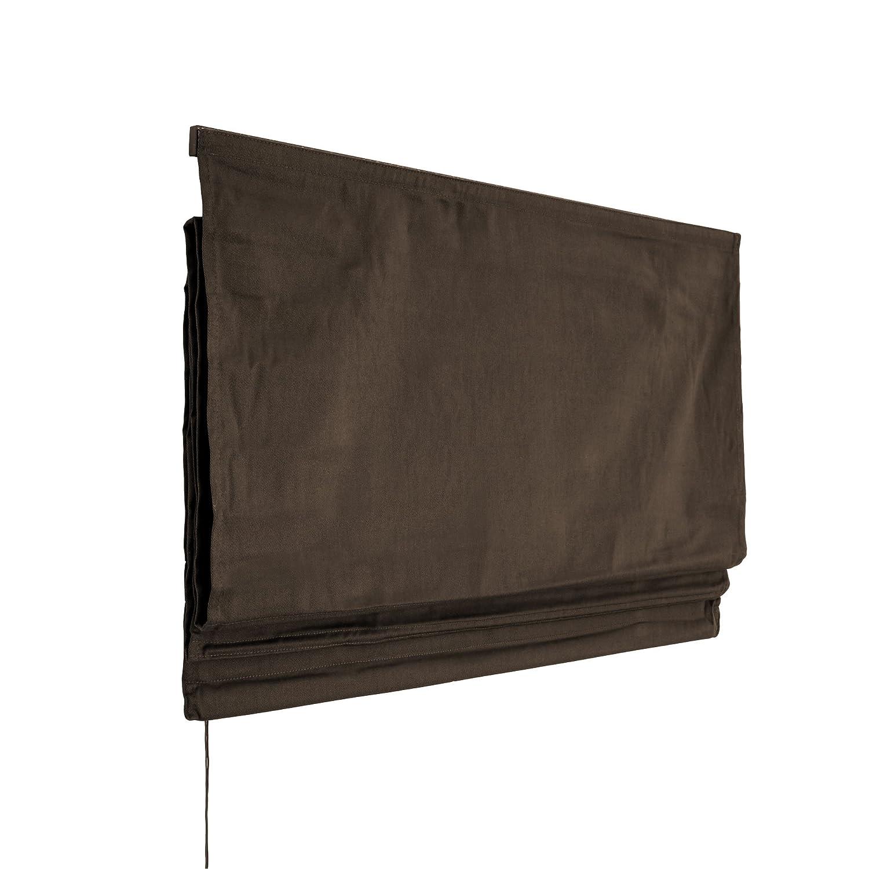 VICTORIA M Klemmfix Tenda a pacchetto per finestra montabile senza fori, 100 x 175cm, marrone