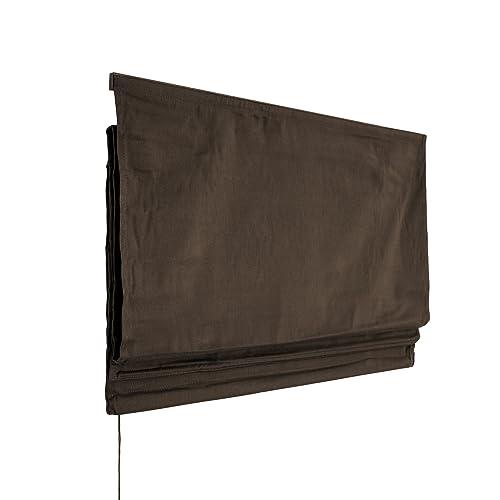 VICTORIA M Estor Plegable/Cortina Plegable paqueto - Klemmfix (fijación sin taladrar) 120 x 175cm, marrón