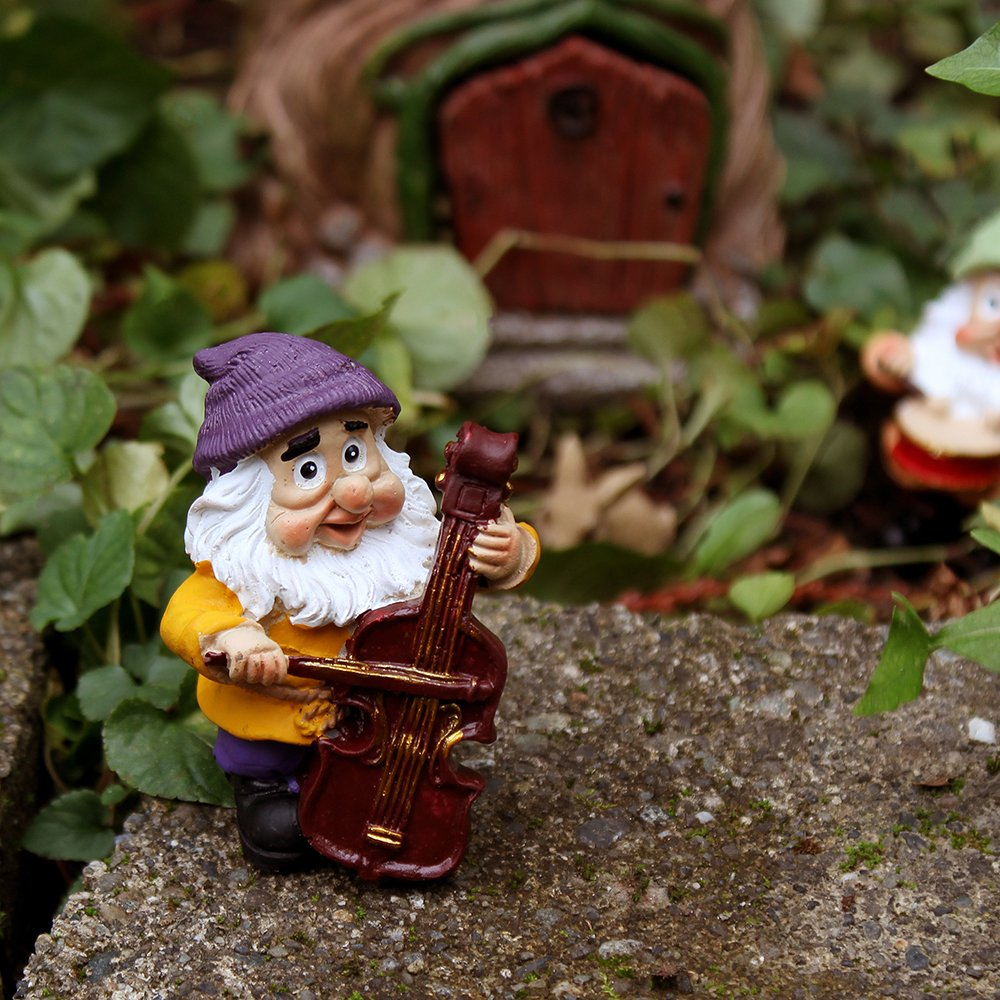 Amazon.com : NW Wholesaler Fairy Garden Supply Gnome Band - Set of ...