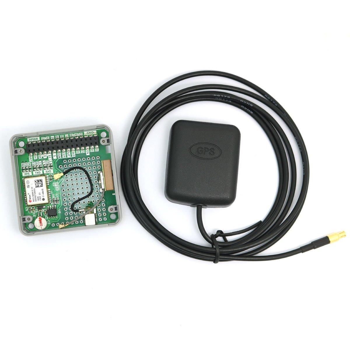 Módulo GPS WINGONEER M5Stack ESP32 Módulo GPS NEO M8N incorporado con interfaz MCX y antena GPS IoT apilable incluido pa